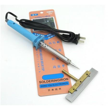 Saldatore Con Punta A Lama Pulizia Rimozione Colla UV Touch LCD Display 60w 8 cm