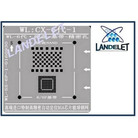 STENCIL REBALLING NAND BASEBAND WL: CX -6 -1 STENCIL WL:CX-6-1 IPHONE 6