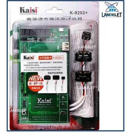 KAISI K 9202 TESTER BATTERIA ATTIVATORE BATTERIA IPAD  IPHONE 4 4S 5 5C 5S 6 6 +
