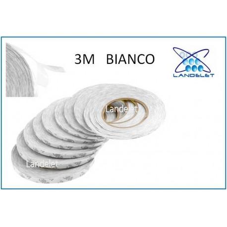 BIADESIVO ADESIVO DA 1 mm RIPARAZIONE LCD TOUCH SCREEN BOBINA 50 METRI BIANCO