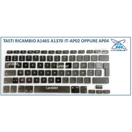 KIT TASTO TASTI RICAMBIO MACBOOK AIR A1465 A1370 AP02 AP04 IT