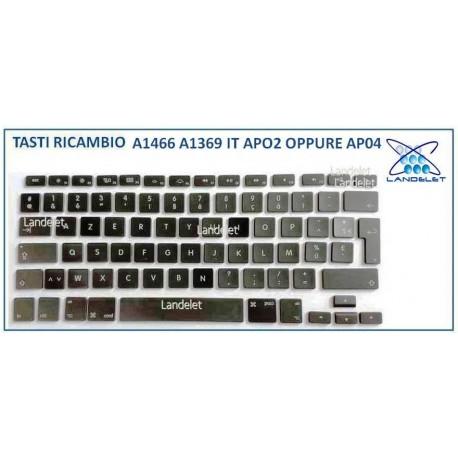 KIT TASTO TASTI RICAMBIO MACBOOK AIR A1466 A1369 AP02 AP04 US