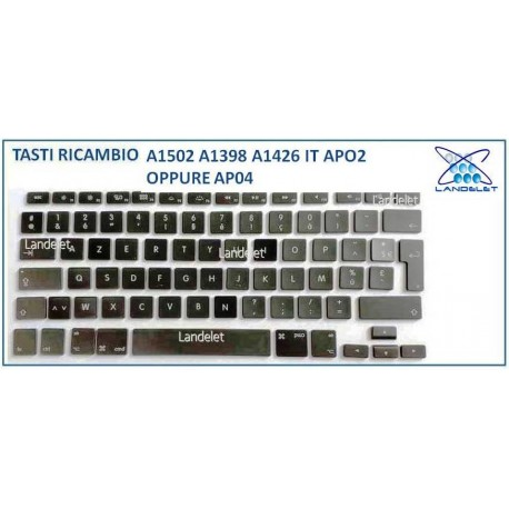 KIT TASTO TASTI RICAMBIO MACBOOK PRO A1502 A1398 A1426 AP02 AP04 US