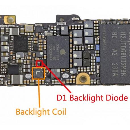 DIODO FILTRO BOBINA RETROILLUMINAZIONE LCD BACKLIGHT IPHONE 5 5G