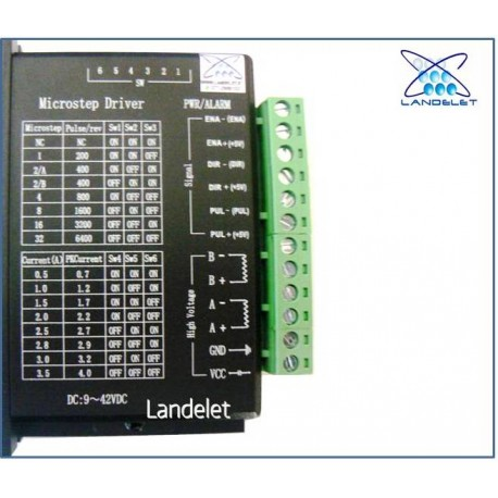 MICROSTEP DRIVER TB6600 CONTROLLER MOTORE PASSO PASSO CNC DC 9 ~ 42VDC 4A