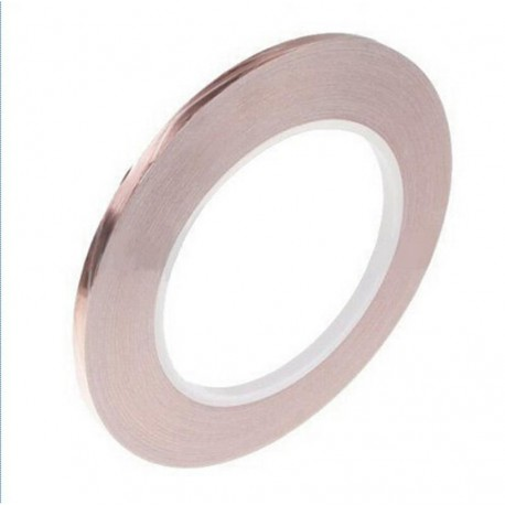 BOBINA NASTRO FILM IN RAME COPPER FOIL NASTRO CONDUTTIVO ADESIVO IN RAME 10 MM