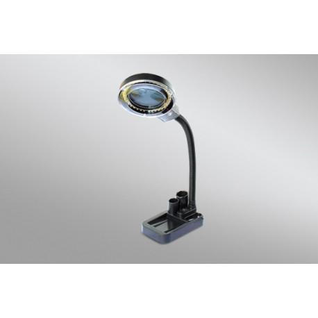 MINI LAMPADA A LED DA TAVOLO DA LABORATORIO RIPARAZIONI CON DOPPIO ZOOM 5X 20 X