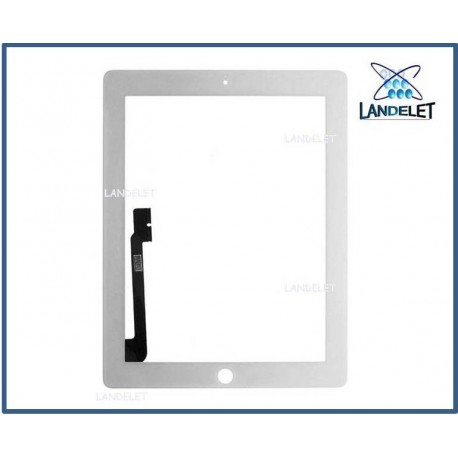 TOUCH SCREEN IPAD 3 IPAD 4 COLORE BIANCO A1432 A1454 A1455 WiFi e 3G