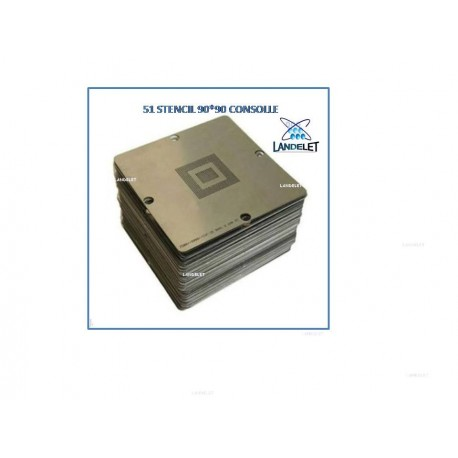 51 Stencil BGA consolle Reballing BGA 90 x 90