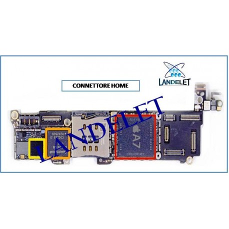 CONNETTORE HOME IPHONE 5S FPC HOME IPHONE 5S